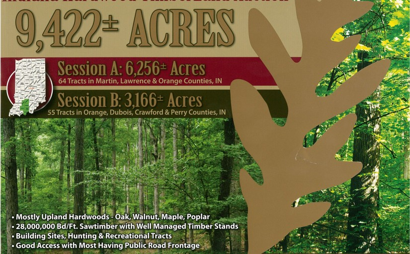 Land Auction: Indiana Hardwood Timberland